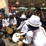 parade africaine en blanc Wim Percussion